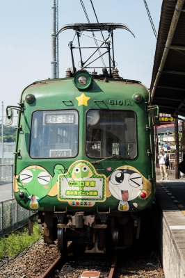 soku_31238.jpg :: 乗り物 交通 鉄道 電車 熊本電鉄 ケロロ電車