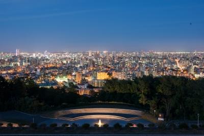 soku_31244.jpg :: 風景 街並み 夜景 札幌 旭山公園 マジックアワー