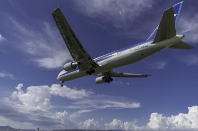 soku_31264.jpg :: 乗り物 交通 航空機 飛行機 旅客機 伊丹空港 千里川