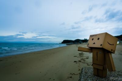 soku_31479.jpg :: アート 工芸品 クラフト 人形 フィギュア ダンボー 風景 自然 海 砂浜 浜辺 風景