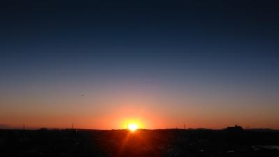 soku_31495.jpg :: 風景 自然 空 夕日 夕焼け 日没