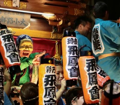 soku_31533.jpg :: 風景 街並み 祭りの風景 祭り 秋祭り スクエアフォーマット
