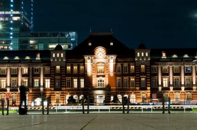 soku_31555.jpg :: 風景 街並み 駅 夜景 東京駅