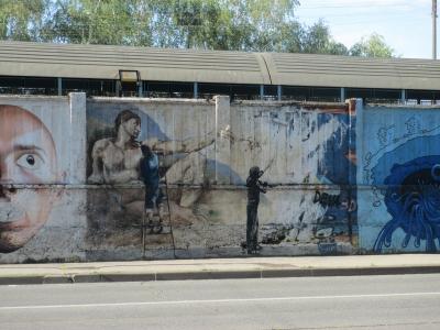 soku_31599.jpg :: 風景 街並み 都市の風景 外国 芸術 アート 絵画 壁画