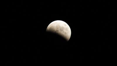 soku_31631.jpg :: 風景 自然 天体 月 部分月食