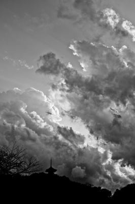 soku_31760.jpg :: 風景 自然 空 雲 モノクロ