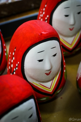 soku_31876.jpg :: アート 工芸品 伝統工芸 おもちゃ 人形 だるま 姫だるま 竹田 水曜どうでしょう