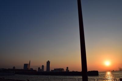 soku_31880.jpg :: 風景 自然 空 夕日 夕焼け 日没