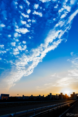 soku_31899.jpg :: 風景 空 マジックアワー 夕焼け 夕日