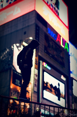 soku_31947.jpg :: パルクール フリーランニング PARKOUR 新宿 スタジオアルタ 夜景
