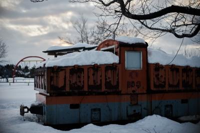 soku_31978.jpg :: 風景 街並み 郊外の風景 雪景色