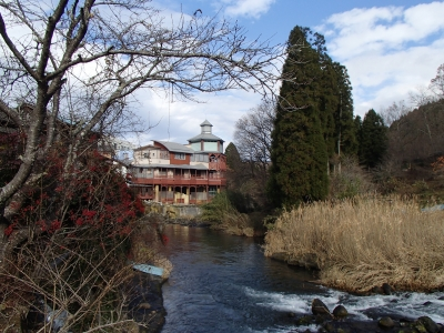 soku_31983.jpg :: 長湯温泉 風景 街並み 郊外の風景