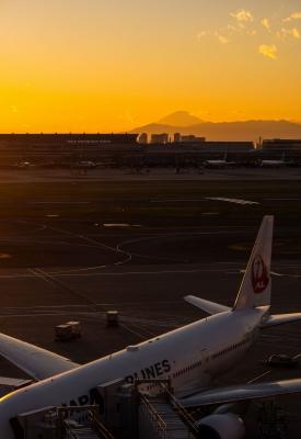 soku_32054.jpg :: 乗り物 交通 航空機 飛行機 旅客機 羽田第1ターミナル