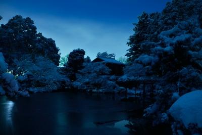 soku_32119.jpg :: 風景 自然 雪景色 夜景