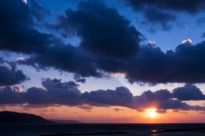 soku_32170.jpg :: 風景 自然 空 夕日 夕焼け 日没