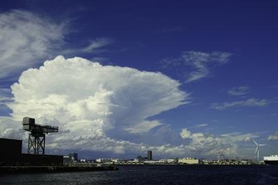 soku_32207.jpg :: 風景 街並み 港 自然 空 雲