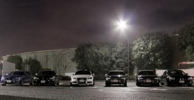 soku_32253.jpg :: Lexus MB BMW Audi 保土ヶ谷PA ミーティング 風景 街並み 駐車場