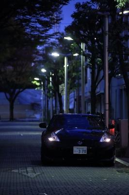 soku_32320.jpg :: 乗り物 交通 自動車 スポーツカー ニッサン フェアレディーゼット Nissan Fairlady Z 370Z 夜景