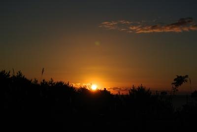 soku_32358.jpg :: 三陸海岸 風景 自然 空 朝日 朝焼け 日の出