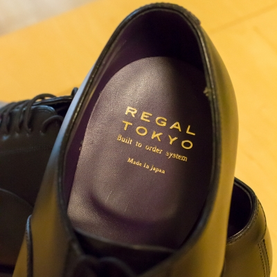 soku_32415.jpg :: リーガルBTO_STRAIGHT TIP、ROUND TOE、KIP、NATURAL×PURPLE STAIN、HALF.PROTECTOR HEEL(Brass Nail) 雑貨 物 靴