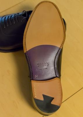 soku_32416.jpg :: リーガルBTO_STRAIGHT TIP、ROUND TOE、KIP、NATURAL×PURPLE STAIN、HALF.PROTECTOR HEEL(Brass Nail) 雑貨 物 靴 ソール