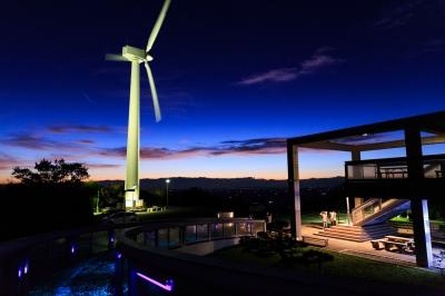 soku_32505.jpg :: EOS6D 建築 建造物 風車 風力発電 夜景