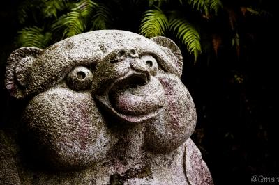 soku_32510.jpg :: 石像 狸 芸術 アート 彫刻 彫像