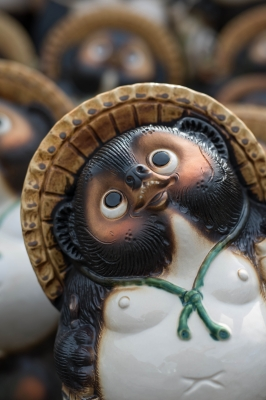 soku_32530.jpg :: アート 工芸品 伝統工芸 陶磁器 信楽焼 たぬき