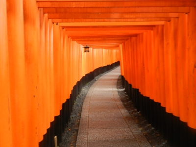 soku_32546.jpg :: 建築 建造物 神社 鳥居 朱