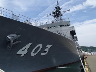 soku_32790.jpg :: 潜水艦救難艦 ASR.403 ちはや Chihaya 日向市細島港 一般公開