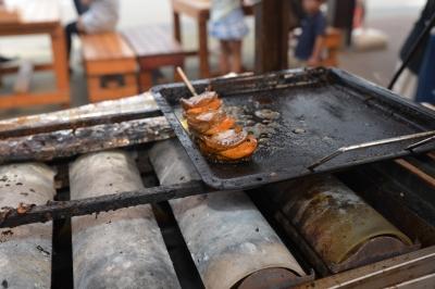 soku_32984.jpg :: ホタテ 食べ物 和食 焼き物 串 帆立串