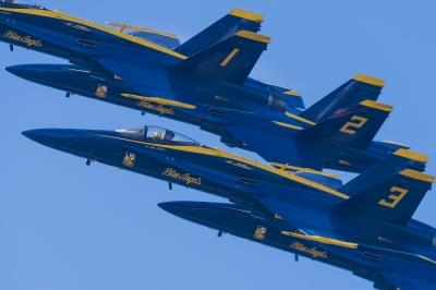 soku_33080.jpg :: 編集版 乗り物 交通 航空機 飛行機 軍用機 サンフランシスコ Fleet Week エアショー ブルーエンジェルス