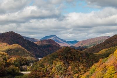 soku_33217.jpg :: 風景 自然 山 紅葉 空 雲 HDR風 やり過ぎ感ありあり