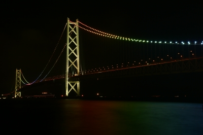 soku_33236.jpg :: 淡路海峡大橋 風景 街並み ランドマーク 橋 夜景