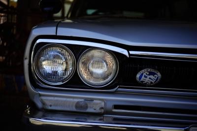 soku_33285.jpg :: 乗り物 交通 自動車 クラシックカー 日産 ブルーバード