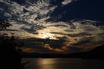 soku_33303.jpg :: 風景 自然 空 夕日 夕焼け 日没 雲