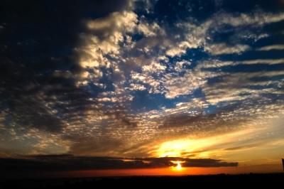 soku_33343.jpg :: 風景 自然 空 夕日 夕焼け 日没