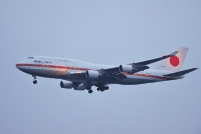 soku_33366.jpg :: 乗り物 交通 航空機 飛行機 軍用機 輸送機 B.747(日本国政府専用機)