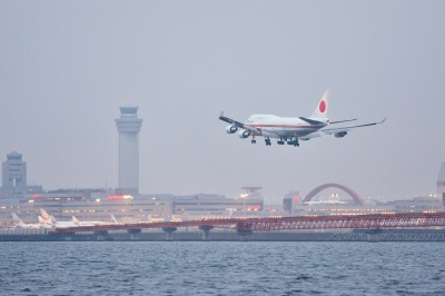soku_33367.jpg :: 乗り物 交通 航空機 飛行機 軍用機 輸送機 B.747(日本国政府専用機)
