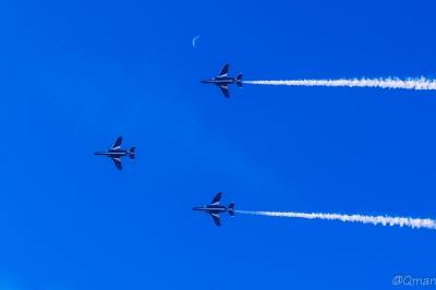 soku_33408.jpg :: 乗り物 交通 航空機 飛行機 軍用機 ブルーインパルス T.4
