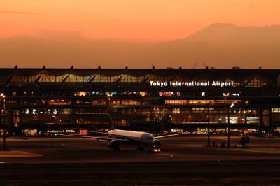 soku_33436.jpg :: 羽田空港・ANAB777 富士山 乗り物 交通 航空機 飛行機 旅客機