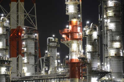 soku_33445.jpg :: 建築 建造物 工場 産業機械 夜景