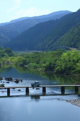 soku_33461.jpg :: 建築 建造物 橋 風景 自然 川 河川 四万十