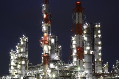 soku_33494.jpg :: 建築 建造物 工場 産業機械 夜景