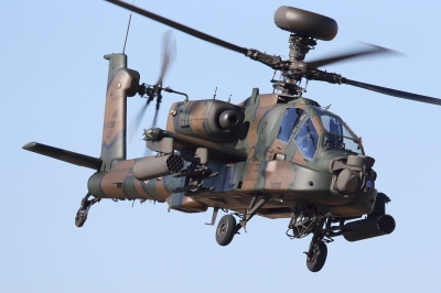 soku_33516.jpg :: 平成28年度 習志野空挺降下訓練始め AH-64D アパッチ