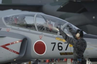 soku_33542.jpg :: 乗り物 交通 航空機 飛行機 軍用機 練習機 T.4(中等練習機)