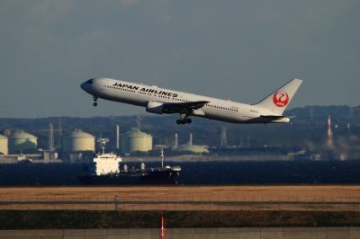soku_33574.jpg :: 羽田 JAL/B767 乗り物 交通 航空機 飛行機 旅客機