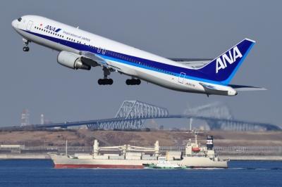 soku_33650.jpg :: ANA B767/HND 乗り物 交通 航空機 飛行機 旅客機