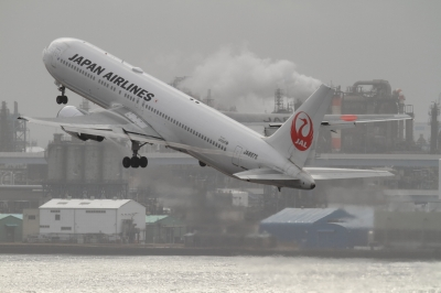 soku_33666.jpg :: JAL B767/HND 乗り物 交通 航空機 飛行機 旅客機