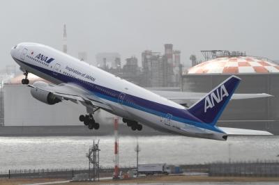 soku_33668.jpg :: ANA B777/HND 乗り物 交通 航空機 飛行機 旅客機